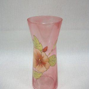 Красная ваза с цветком
